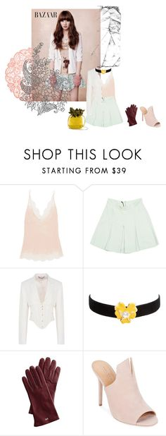 """""""Untitled #770"""" by angelworlds21 ❤ liked on Polyvore featuring Carine Gilson, Miu Miu, STELLA McCARTNEY, Kenneth Jay Lane, Mark & Graham and Halston Heritage"""