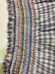 Example of CC's smocking - completed at age 8! A beautiful apron