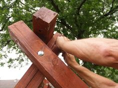 exactly how to build a swing in about an hour, outdoor living, repurposing upcycling, woodworking projects Small Garden Table, Diy Garden Table, Wooden Planters, Diy Planters, Backyard Swings, Backyard Ideas, Outdoor Swings, Garden Swings, Backyard Playground