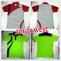 Poloshirt dengan desain khusus dari unclewest, kombinasi warna yg bisa disesuaikan dengan keinginan anda..