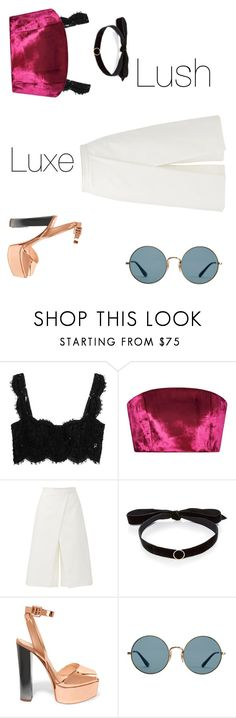 """""""Love"""" by nsrlove ❤ liked on Polyvore featuring Dolce&Gabbana, Katie Ermilio, TIBI, Mateo, Giuseppe Zanotti and Ray-Ban"""