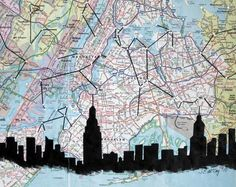 NYC. When a  ground plan and a cross-section become a work of art...