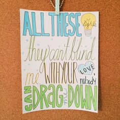Drag Me Down - One Direction - Lyric Drawing