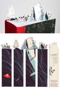 Fuck Yeah Illustrative Art! • 365daysof27: Clever bookmark set by Pietari...