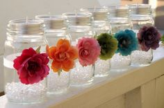 "A Jar of Crystals ""Sheer Brights""  Cute idea for parties"