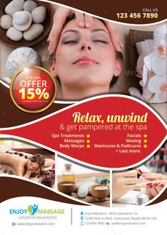 Spa Advertisement On Behance  Spa Ad Flyer    Spa And