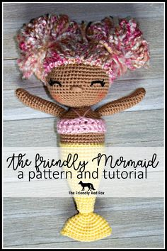 The Friendly Mermaid Doll is a little under 12 inches tall and 4.5  inches wide (not including the arms and hair.) This is the perfect ...