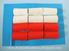 flaga polski z rolek po papierze praca plastyczna dla dzieci Toilet Paper Roll Crafts, Techno, Origami, Crafts For Kids, Classroom, Education, Diy, Poland, Patriots