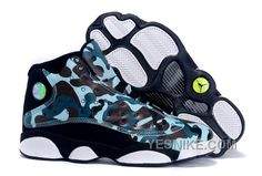 "uk availability 05147 eb406 Buy Girls Air Jordan 13 GS ""Army Camo"" Custom Black White Teal For Sale  2574 from Reliable Girls Air Jordan 13 GS ""Army Camo"" Custom Black White  Teal For ..."