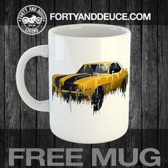 Exclusive Handmade Mug 69 Camero Liquid Metal, Classic Chevrolet, Great Birthday Gifts, Die Hard, Vw Beetles, Chevrolet Corvette, Drinkware, Mopar, Personalized Gifts