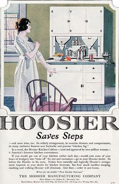 1921 Hoosier Cabinet Ad By American Vintage Home, Via Flickr