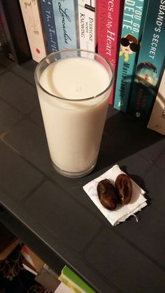 Midnight snack: unsweetened almond milk with a tsp of agave nectar and ...