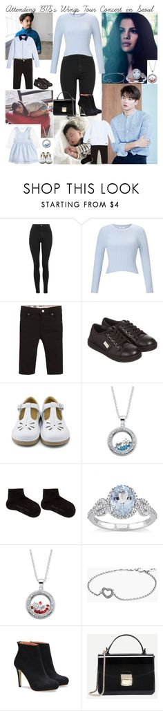 """""""Attending BTS's Wings Tour Concert in Seoul with Minho"""" by mxrlvne ❤ liked on Polyvore featuring Topshop, Miss Selfridge, Burberry, Dolce&Gabbana, Palm Beach Jewelry, Falke, Miadora and Pandora"""