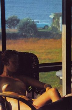 """I like the rich flesh color of this Leiter photo. Some versions are lighter. """"Lanesville, 1958"""" by Saul Leiter"""