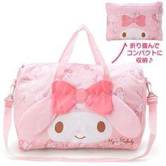 My Melody  Folding Boston Bag Face (Pink) f/s
