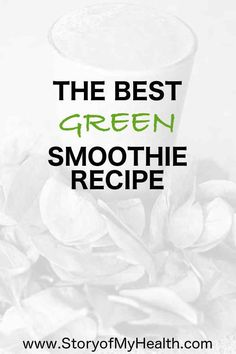 This is the BEST #Green #smoothie #recipe! It is so simple that is only includes 4 ingredients and yet it taste so delicious that my children ask for it for #breakfast every morning. It contains #prebiotics, #probiotics, #vitamins and #minerals!