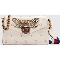 c432b0b1a7 Gucci Broadway Leather Clutch ($2,980) ❤ liked on Polyvore featuring bags,  handbags,