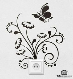 "wall stickers art beach huts in goa. CLICK Visit above for more options - Wall Decals: The Perfect ""Stick-on"" Design. Simple Wall Paintings, Wall Painting Decor, Creative Wall Painting, Wall Art Designs, Paint Designs, Wall Design, Wall Sticker Design, Diy Wand, Flower Wall Decor"