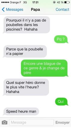 la blague du super hero mon pere me la fai XD Funny Sms, Funny Jokes, Hilarious, Funny Images, Funny Pictures, Insta Message, Rage Comic, Haha, Good Jokes