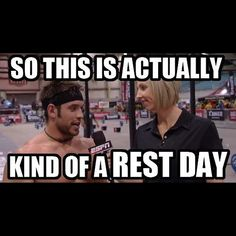 Your toughest day of working out, is another mans's rest day.... #thewodlife #richfroning #restday #crossfit #crossfitmeme #crossfitaustralia #crossfitgames richfroning #thechamp