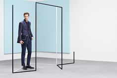 Signature clean-cut tailoring from the BOSS Menswear pre-Fall 2016 collection
