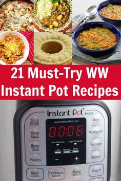 Here are 21 Must-Try Weight Watchers Instant Pot Recipes! Make a delicious, freestyle point friendly meal in a matter of minutes! Weight Watchers Lasagna, Weight Watchers Pumpkin, Weight Watchers Diet, Weight Watchers Chicken, Pressure Cooker Chicken, Instant Pot Pressure Cooker, Pressure Cooker Recipes, Pressure Cooking, Ninja Recipes