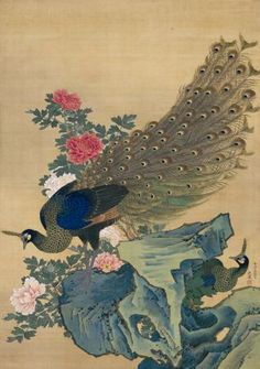 Maruyama Ōkyo,「牡丹孔雀図」(応挙展より) - 足立区綾瀬美術館 annex