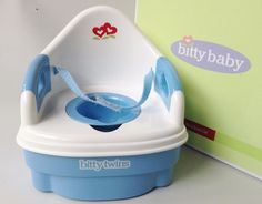 Authentic American Girl Bitty Baby Twins POTTY CHAIR/SEAT for Dolls in Orig. Box #AmericanGirl #Accessories