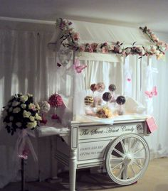Candy Cart For Your Guests Love The Idea Of Cute Little Sweets Wedding Sweet