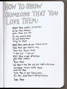 How to show someone that you love them » Sad and Love Picture