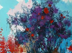 henrik simonsen/purple  oil and graphite on canvas 110 x 150 cm 2013