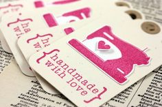 10 best business cards images on pinterest business cards carte handmade with love tags pink sewing machine set of by inkscissors 625 love tagbusiness card reheart Images