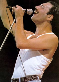 Queen's Freddie Mercury at Live Aid. Rock's greatest frontman in his finest hour. Legend.