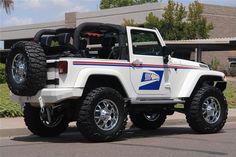 "2008 Jeep Wrangler Custom ""US Mail"" Tribute Blue Jeep Wrangler, Jeep Brand, Badass Jeep, Going Postal, Custom Jeep, Cool Jeeps, Barrett Jackson Auction, Custom Paint Jobs, Jeep Gladiator"