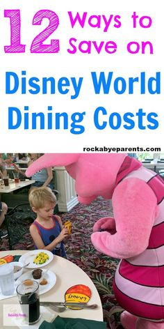 Looking for ways to save money on your Walt Disney World vacation? Here are 12 different money saving tips that you can use to save on Walt Disney World dining. Click through to grab these Walt Disney World vacation tips and tricks! Via Rock-A-Bye Parents #waltdisneyworld #familytravel #savemoney