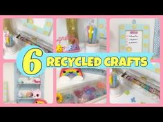 6 RECYCLED CRAFTS to organize\Room decor