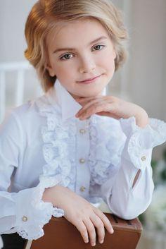 Нарядная блузка для девочки арт.163621