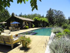 Healdsburg Vacation Rental - VRBO 425675 - 4 BR Russian River Estate in CA, Secluded Vineyard Estate Yet Close to the Plaza Swiming Pool, Swimming, California Homes, Northern California, Cool Pools, Wonderful Places, Amazing Places, Wine Country, Acre
