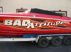 Bad Attitude Boat Graphic Wrap Done By Sign Pro Inc.
