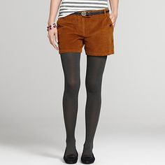 Tommy Hilfiger women's short. Corduroy goes chic in our popular Rome-fit short. A modern classic with tweedy sweaters and colored tights—but still warm-weather worthy with silky tops and sky-high sandals. Slim fit. 100% cotton. Slash pockets with button closure, tab waist. Dry clean. Imported.
