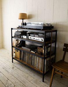 TG COUNTER | TRUCK FURNITURE Kitchen Interior, Kitchen Design, Vinyl Room, Gaming Room Setup, Vinyl Storage, Audio Room, Vintage Room, Man Room, Aesthetic Bedroom