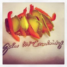 Something with a bit of bite....peppers and avocado on McCambridge brown bread...simple and delicious !!!