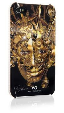 The Mechanist Gold iPhone 4&4s white diamonds Kapak