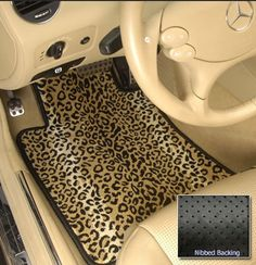 Awesome Leopard Print Car Mats