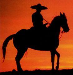 """""""Por la lejana montaña, va cabalgando un jinete, vaga solito en el mundo y va deseando la muerte, lleva en el pecho una herida, va con su alma destrozada, quisiera perder la vida y reunirse con su amada"""" ( El Jinete / José Alfredo Jiménez )"""