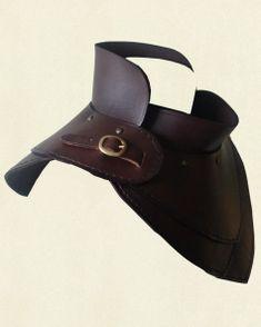 Gorget Simple, clean look. Larp Armor, Cosplay Armor, Medieval Armor, Armor Clothing, Medieval Clothing, Armadura Cosplay, Costume Venitien, Costume Armour, Armadura Medieval