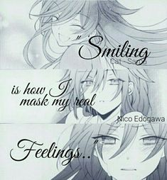 anime, smiling, and quotes kép