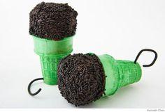 Microphone cupcake cones!