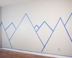 DIY Nursery Mountain Mural - Hello YELLOW - You are in the right place about diy face mask Here we offer you the most - Mountain Bedroom, Mountain Mural, Mountain Nursery, Mountain Decor, Baby Room Decor, Nursery Room, Diy Nursery, Nursery Murals, Kids Wall Murals