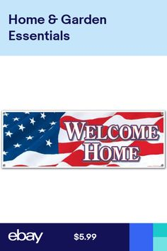 Jumbo Welcome Home Sign Banner Party Accessory 5 ft x 21 inch